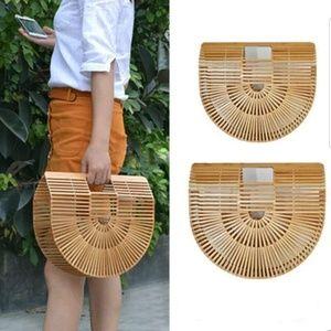🆕️Sale💖Handmade Woven Bamboo Beach Bag Purse Big